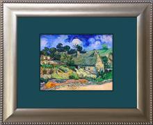 Vincent Van Gogh (after) Meadows Hand embellished canvas