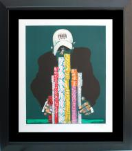 Waldemar Swierzy Original Lithograph Limited Edition World of Poker