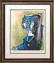 Portrait of Sylvette Pablo Picasso Lithograph