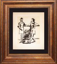 Picasso Dessins Ballet Dancer lithograph rare 90 year old