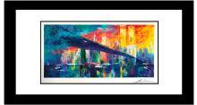 Le Roy Neiman Brooklyn Bridge Lithograph Hand signed