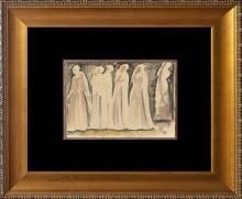 Original Drawing Hand signed by the artist Bernard Zakheim in 1932 in Paris