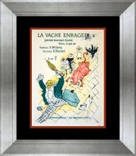 Lithograph from 1957 of vintage french poster