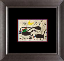 Joan Miro Color Plate Lithograph from 1957