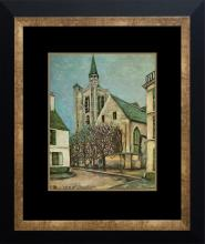 Maurice Utrillo Color Plate Lithograph from 1957