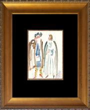 Original Drawing f  1932 Bernard Zakheim Paris  Hand signed by the artist