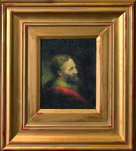 Original Oil on canvas Man in the Red Robe by Rafael