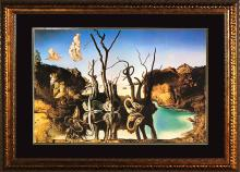 Salvador Dali-Swans Reflecting Elephants