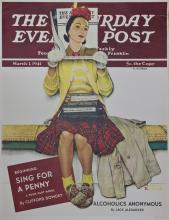 Norman Rockwell Vintage Lithograph Poster 1968