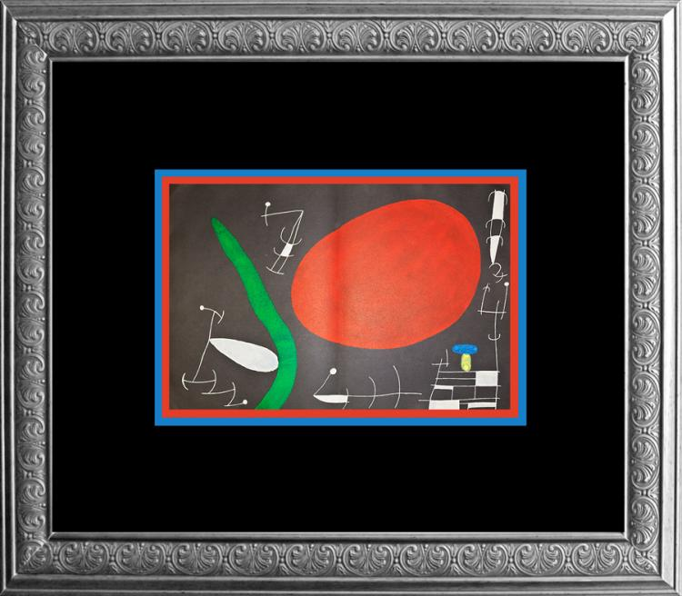 Joan miro original lithograph derriere le miroir 1967 paris for Miro derriere le miroir