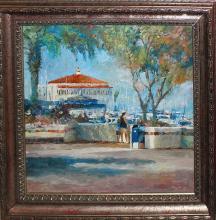 Fox Original Oil on canvas en Plein Air