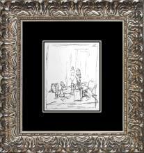 Alberto Giacometti Geneve 1973 Lithograph
