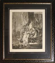 Etching After Rembrandt-Christ Pontious Pilate-Etching