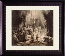 Christ Crucified between Two Thieves - Rembrandt - Durand Etching