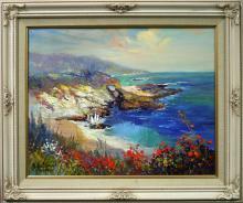 Original Oil by Rafael Seaside