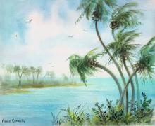 Original Watercolor Ann Connolly 1960