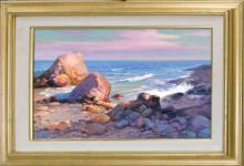 Rafael-Original Oil-Paradise Cove en plein air