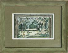 Original on paper by Gene Nielson signed in the back