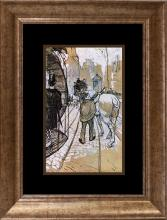 Toulouse Lautrec Color Plate Lithograph from 1957