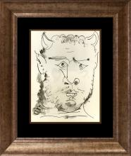 1957 Pablo Picasso Lithograph from Marge Du Buffon