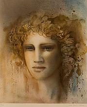 Jean-Paul CENAU (XXe). Portrait d'éphèbe. Estampe signée et numérotée 170/2