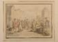 Ecole française vers 1770 - Le marché de la Place Maubert à Paris