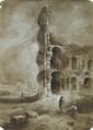 Ecole française de la fin du XVIIIème - Vue du Colisée