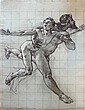 Louis Béroud:  L'enlèvement des Sabines. Étude n°1