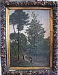 Julien CALVÉ . Le ramassage du bois dans la forêt landaise