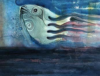 TAYO ADENAIKE (b. 1954) THE FISH THE WORLD COULD