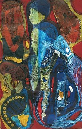BRUCE ONOBRAKPEYA (b. 1932) UBIEBI (FUDE) 1988