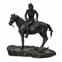 D'après Frédéric REMINGTON (1861-1909).    Indien à cheval.