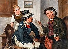 ZIMMERMANN (actif à la fin du XIXe-début du XXe siècle).    Scènes d'intérieur.
