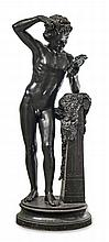 Antoine DURENNE (1822-1895) - Fonderie d'art de Sommevoire.    Faune se coiffant.