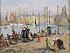 Alfred GUILLOU (1844-1926) Marché au poisson Huile