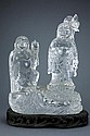 CHINESE CRYSTAL FIGURE OF HEHE IMMORTALS