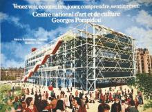 Venz voir, écouter, lire, ?.Centre George Pompidou - 1 des premières aff. Du Centre à son ouverure 1976