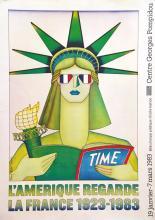L'Amérique regarde la France 1923-1983 - Centre Georges Pompidou ( Statue de la Liberté ) 1983