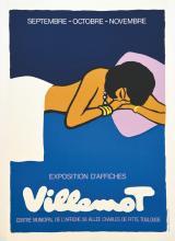 Villemot - Exposition d'Affiches Centre Municipal de L'Affiche vers 1990 Toulouse (Haute-Garonne)