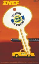 SNCF location de Voiture Train + auto 1971