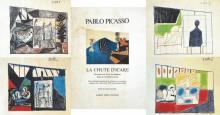 Lot de 4 Estampes DE Pablo Picasso Venant du Livre : La Chute D'Icart 1957