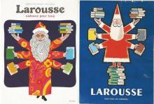 Lot de 2 affiche Larousse par Jean Carlu vers 1950