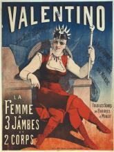 La Femme à trois jambeset 2 Corps - Valentino vers 1900