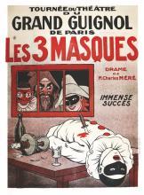 Les 3 Masques - Tournée du Grand Guignol de Paris vers 1900