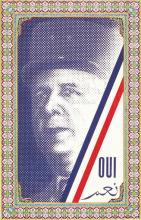 De Gaulle - Oui à l'Algérie Nouvelle référeundum 1961 1961