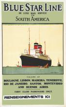 Bleu Star Line vers 1900