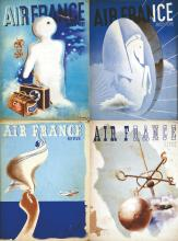 Lot de 39 Revues Air France vers 1930 à 1950