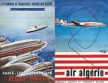 Lot de 4 Affiches : CGTA Air Algérie - Air Algérie 1953