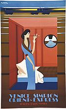 FIX-MASSEAU PIERRE, Venice Simplon Orient Express 1992 Affiche Européenne V