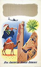 Pan American world Airways 1951 1 Affiche Non-Entoilée / Poster on Paper no